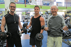3 generations in fitness center